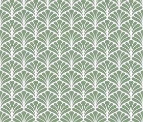 Vector Floral Art Nouveau Seamless Pattern. Geometric decorative leaves texture. Retro stylish background.