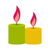 Aromatic candles icon, flat style - 187815442