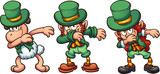 Dabbing sheep and leprechauns. Vector clip art illustration with simple gradients. Each on a separate layer. - 187820623