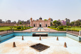 View of Mausoleum of Bibipari in Lalbagh fort. Lalbagh fort is an incomplete Mughal fortress in Dhaka, Bangladesh - 187821643