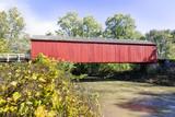 Illinois Red Covered Bridge - near Princeton, Illinois - 187830817