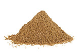 Heap of coriander powder on white background - 187837695