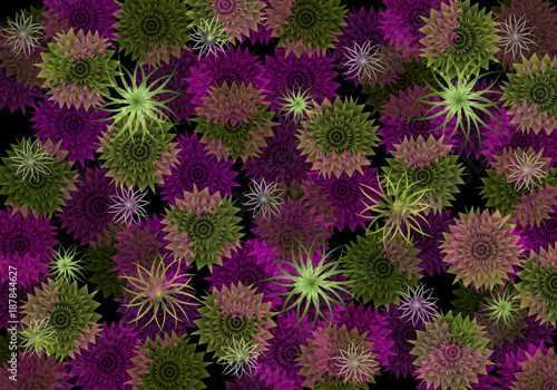Bright colorful abstract wallpaper. Аbstract flowers background. - 187844627