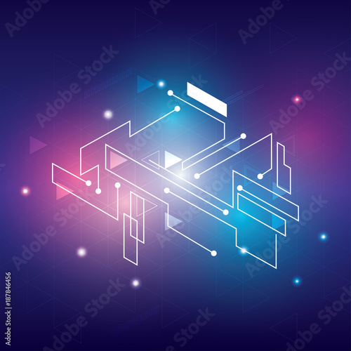 Abstract Modern Technology Background
