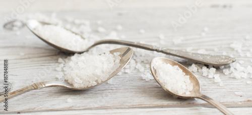 Spoons of sea salt