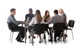 Diverse Group Of Businesspeople Working On Laptop - 187849650