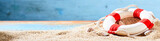 Summer vacations and tropical beach banner - 187851842