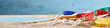 Summer seaside vacation banner concept