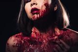 girl in blood makeup...