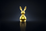 golden easter bunny figure