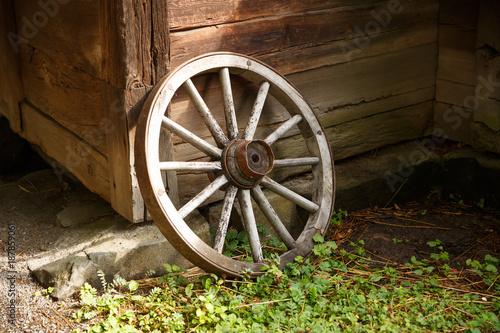 Foto op Canvas Stockholm Old wheel