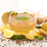 lemon and ginger tea - 187859489