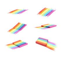 Rainbow Gradient Made Of Chalks Sticker