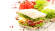 sandwich with cheese and ham - 187860209