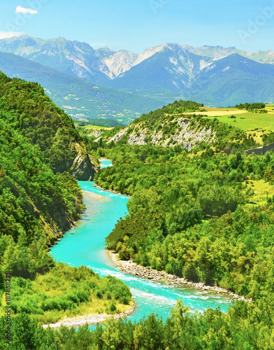 Foto Murales Mountain river