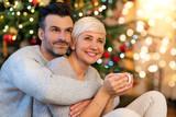 Couple together on Christmas  - 187868408