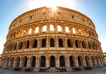 Colosseum in Rome, Italy. The biggest amphitheater of Ancient Rome.