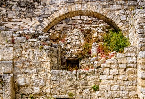 In de dag Baksteen muur old brick wall