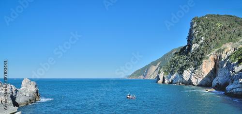 Foto op Plexiglas Liguria Küste der italienischen Riviera nahe den Cinque Terre bei Porto Venere,Ligurien,Italuien