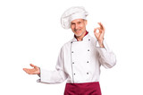 Happy chef pointing - 187883071