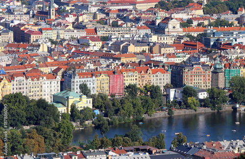 Poster Praag Panoramic View of Prague the capital of Czech Republic