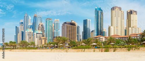 Subai - The Marina towers from the beach.