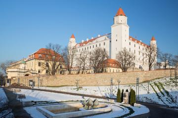 Bratislava - The castle in winter light.