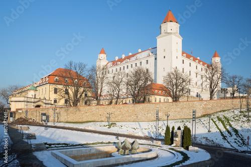 Foto Murales Bratislava - The castle in winter light.