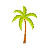 Palm tree icon, flat style - 187889677