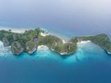 Aerial View of Tropical Limestone Island in Raja Ampat - 187889807