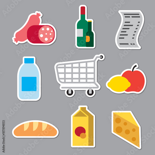grocery supermarket stickers