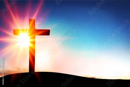 Papiers peints Morning Glory Cross.