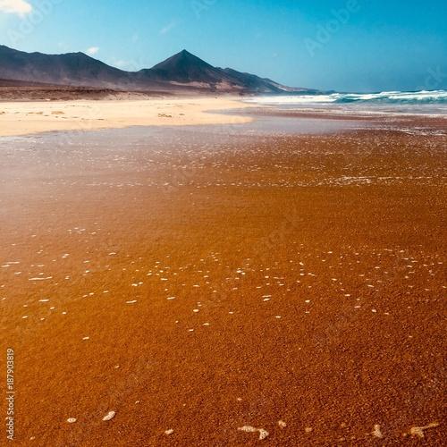 Fotobehang Canarische Eilanden Cofete beach in Fuerteventura