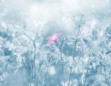 Spring bright background with beautiful bells flowers