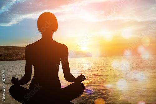 In de dag School de yoga Yoga.