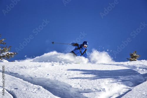 Foto Murales joy of freeride skiing
