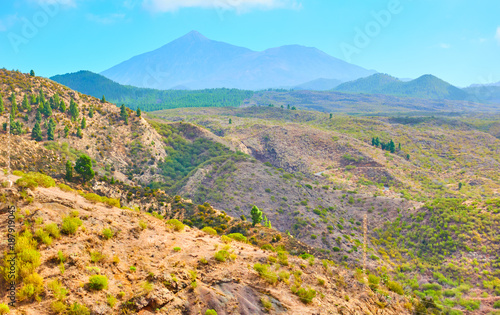 Foto op Canvas Pool Landscape of highland in Tenerife