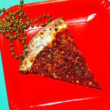 Slice of pizza. Fast Food Fashion Art Flat lay minimal trends - 187924450