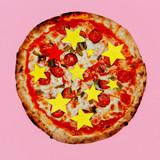 Pizza Stars. Fast Food Fаshion Art Flat lay - 187925841