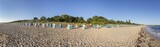 beach with beach chairs in a row  in Zinnowitz, Usedom