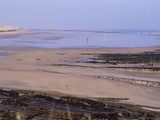 Bamburgh Beach with Horses in Distance - 187930072