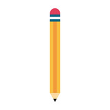 Wooden pencil isolated icon vector illustration graphic design - 187936810