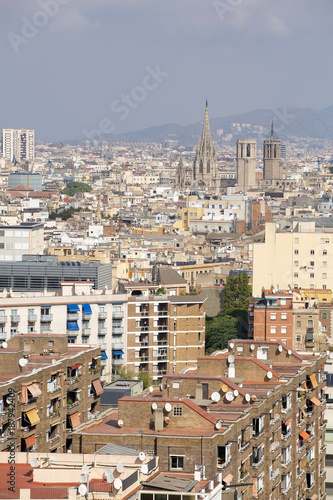 Foto op Canvas Barcelona Barcelona, Spain - October 14, 2017. Overview of the city