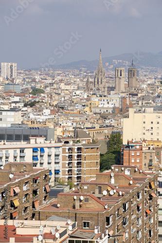 Keuken foto achterwand Barcelona Barcelona, Spain - October 14, 2017. Overview of the city