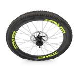 bike front wheel against white. 3D illustration - 187959228