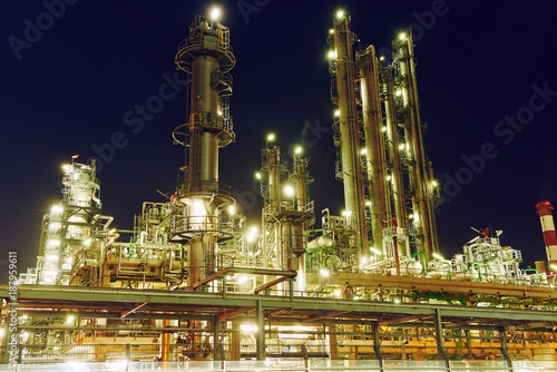 Oil refinery plant or factory