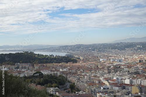 Fotobehang Nice City view of Nice