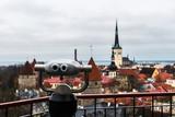 Aerial view of Tallinn old town