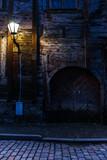 Mystic door at night in Tallinn