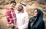 Arabian family portrait in the old city - 187973805